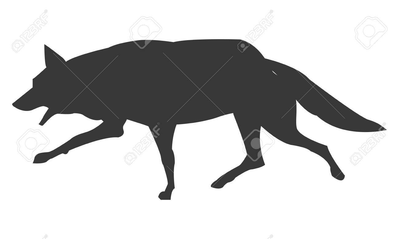 simple flat design wolf silhouette icon vector illustration animal stock vector 59237132