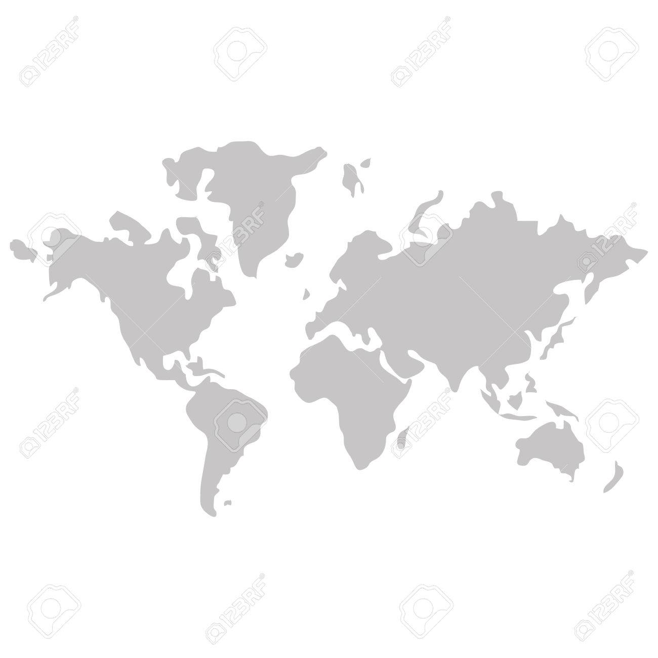 Simple flat design world map with distinction between land and simple flat design world map with distinction between land and sea icon vector illustration stock vector gumiabroncs Gallery