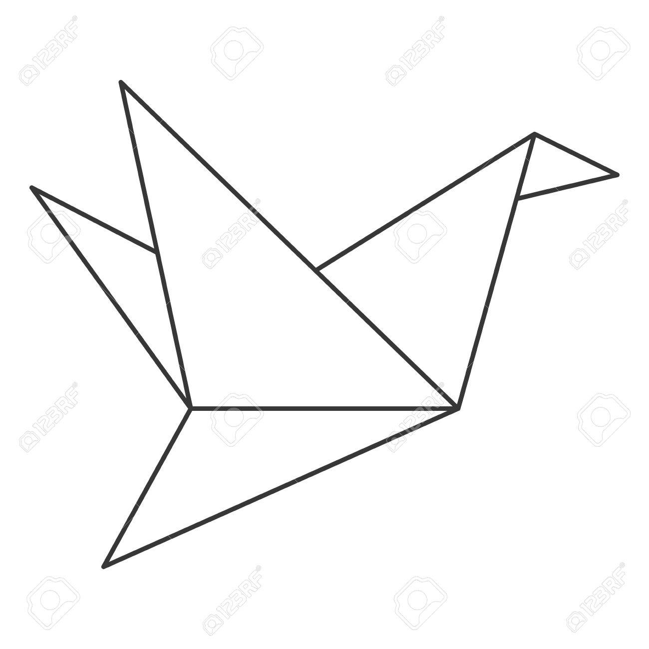 Step by step instructions how to make origami a bird. | 1300x1300