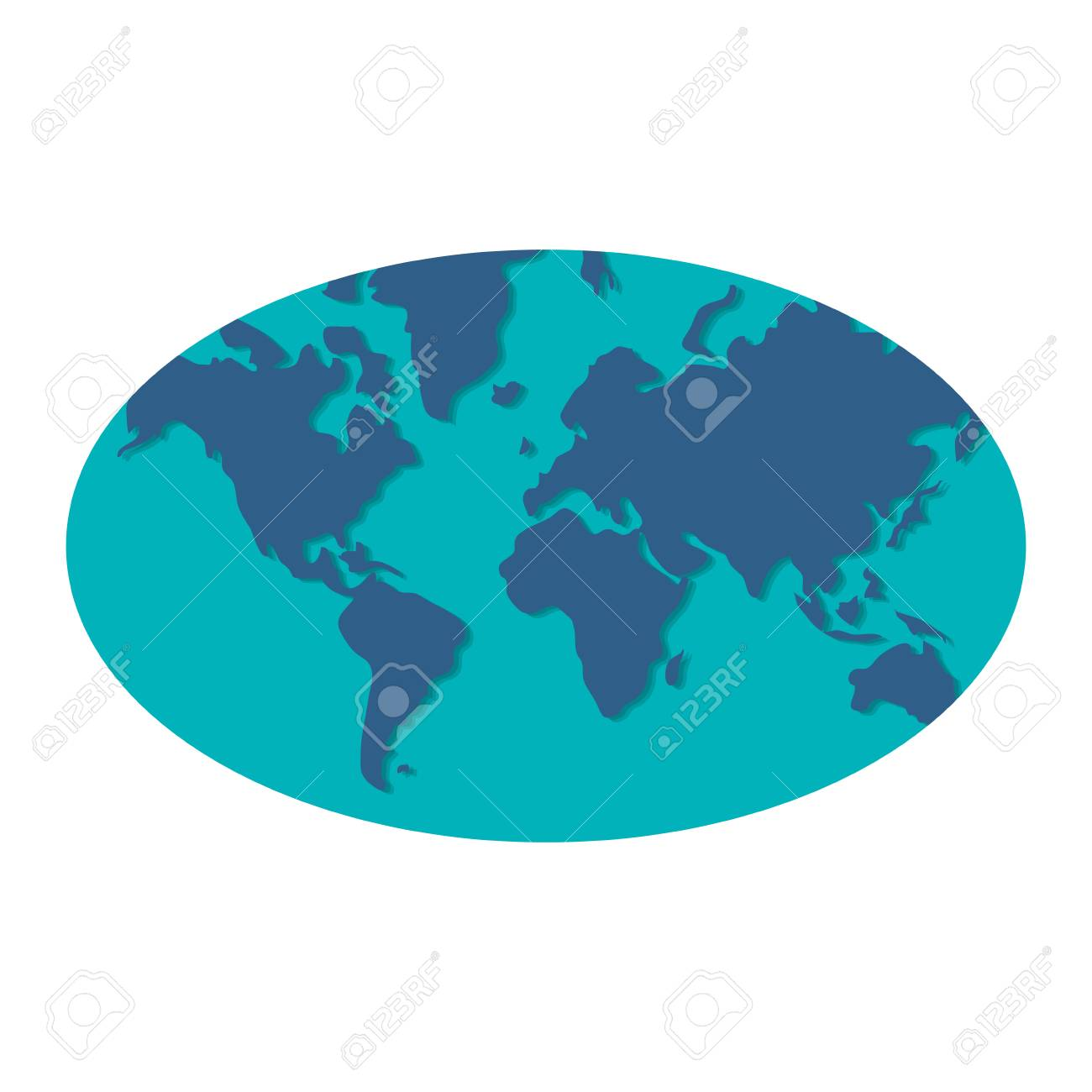 Simple flat design blue world map icon vector illustration royalty simple flat design blue world map icon vector illustration stock vector 59376354 gumiabroncs Images