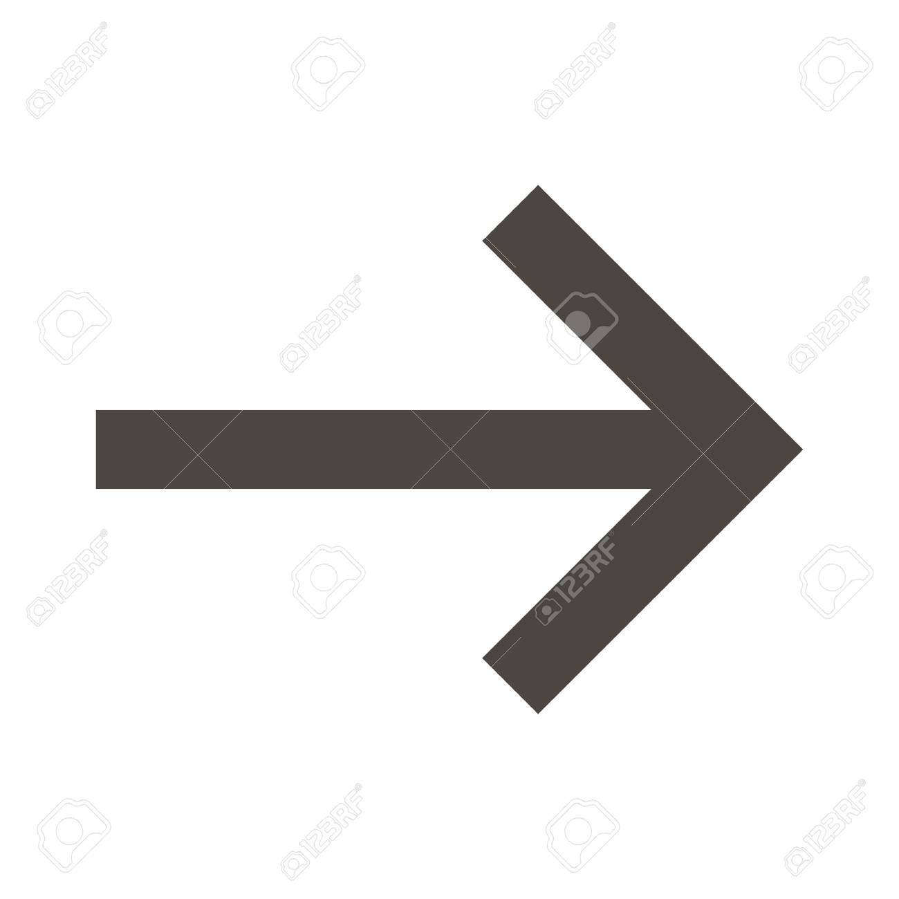 Flat Design Arrow Pointing Right Icon Vector Illustration Royalty Free Cliparts Vectors And Stock Illustration Image 62291820