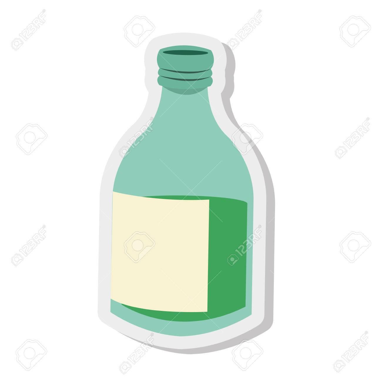 verre plat design bouteille icône illustration vectorielle