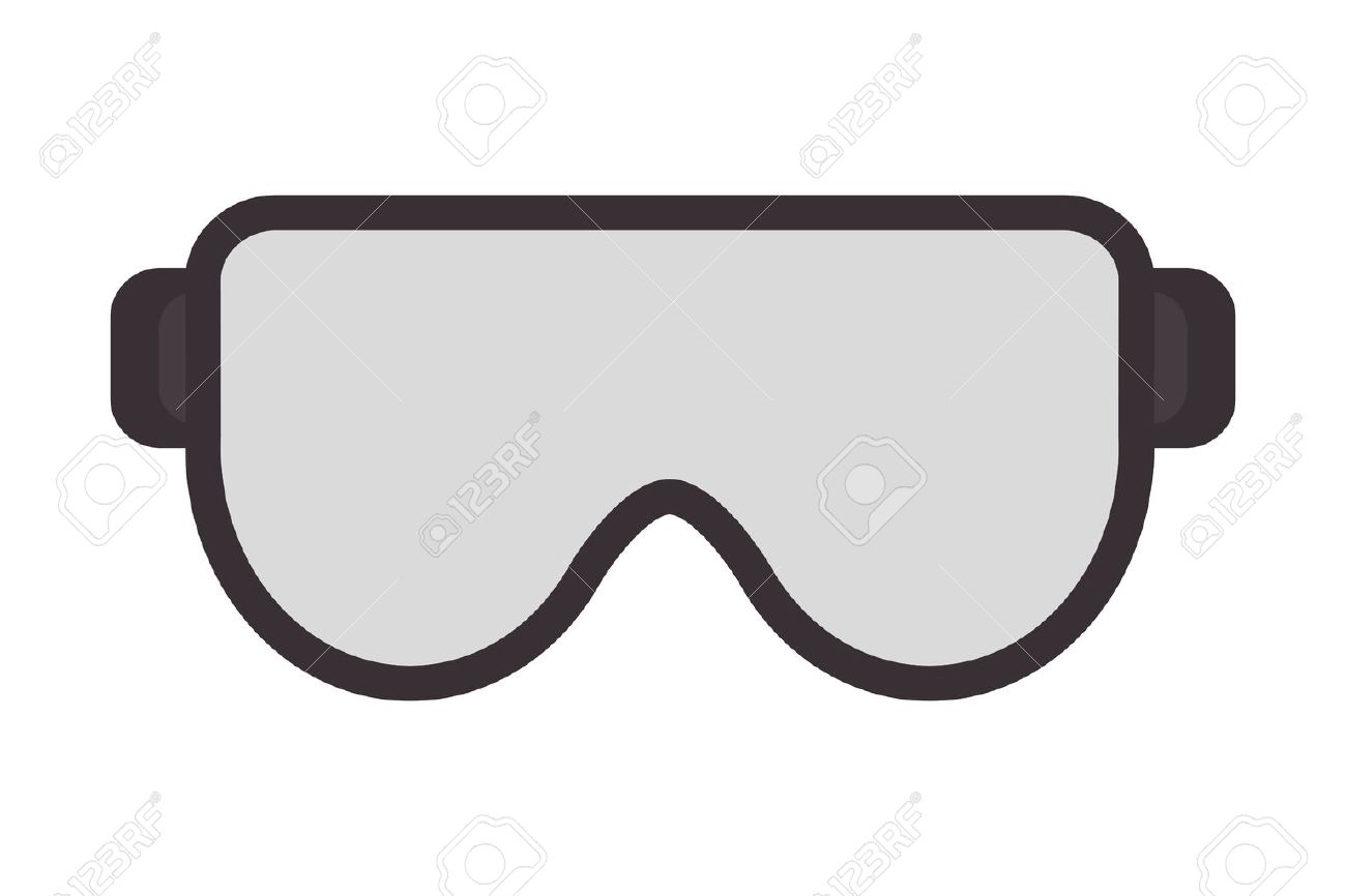 flat design safety goggles icon vector illustration - 60549624