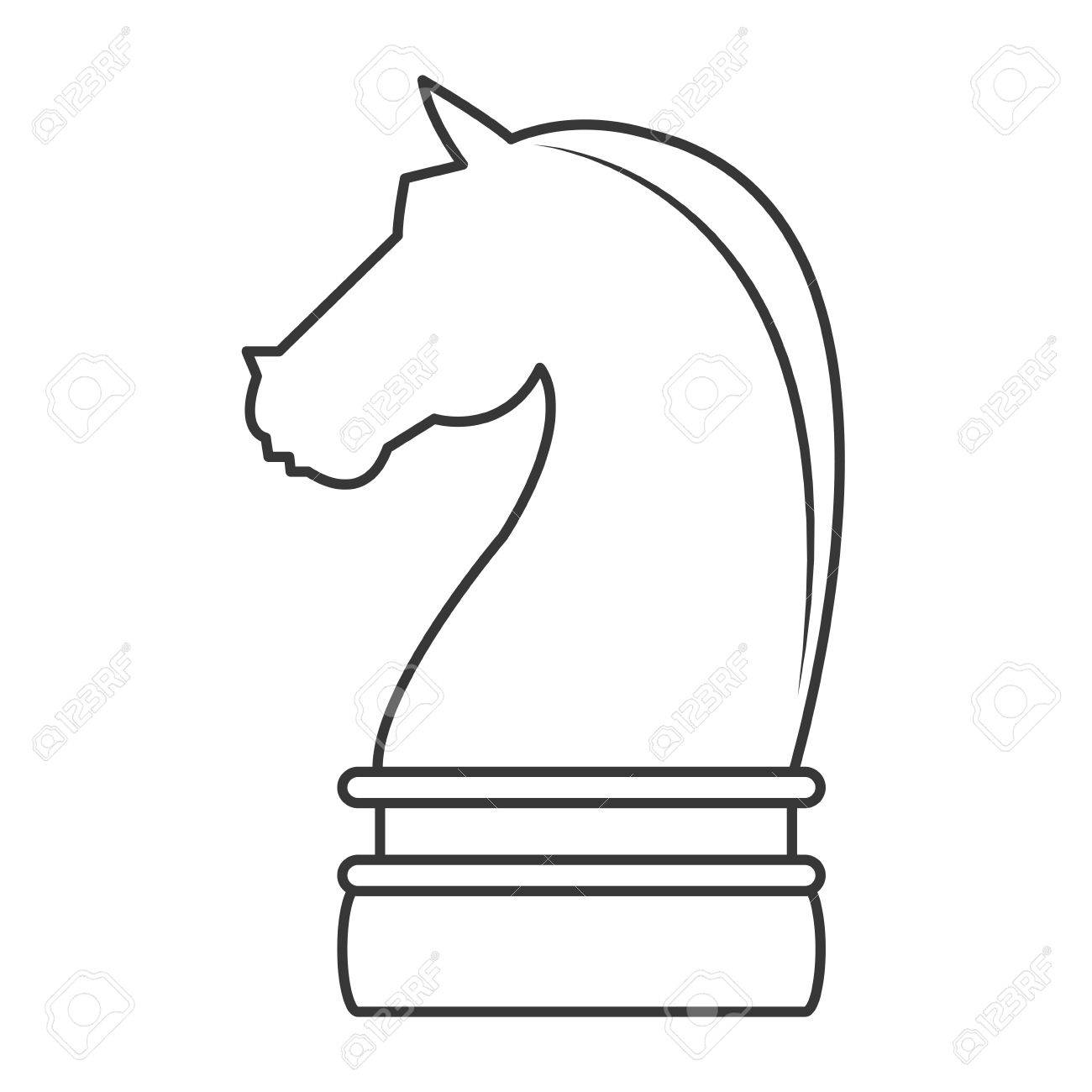 Flat Design Horse Chess Piece Icon Vector Illustration Royalty Free Cliparts Vectors And Stock Illustration Image 60549775