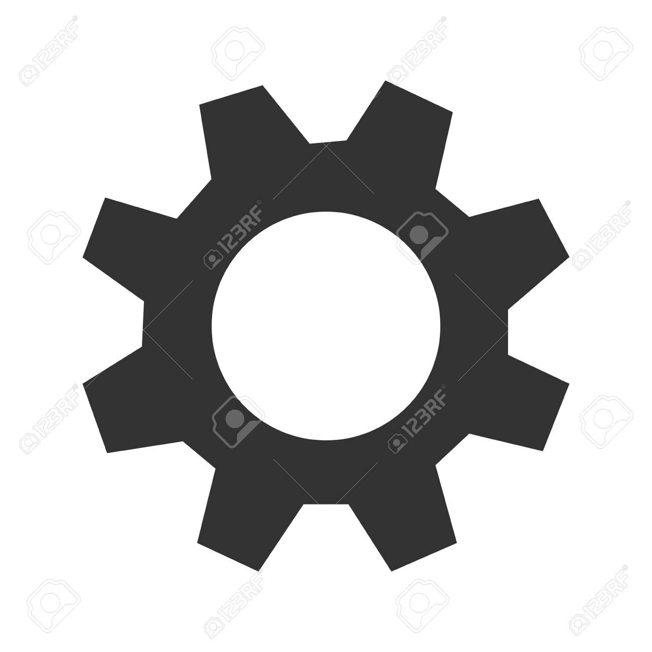 flat design single gear icon vector illustration royalty free rh 123rf com gear wheels icon vector gear vector icon free download