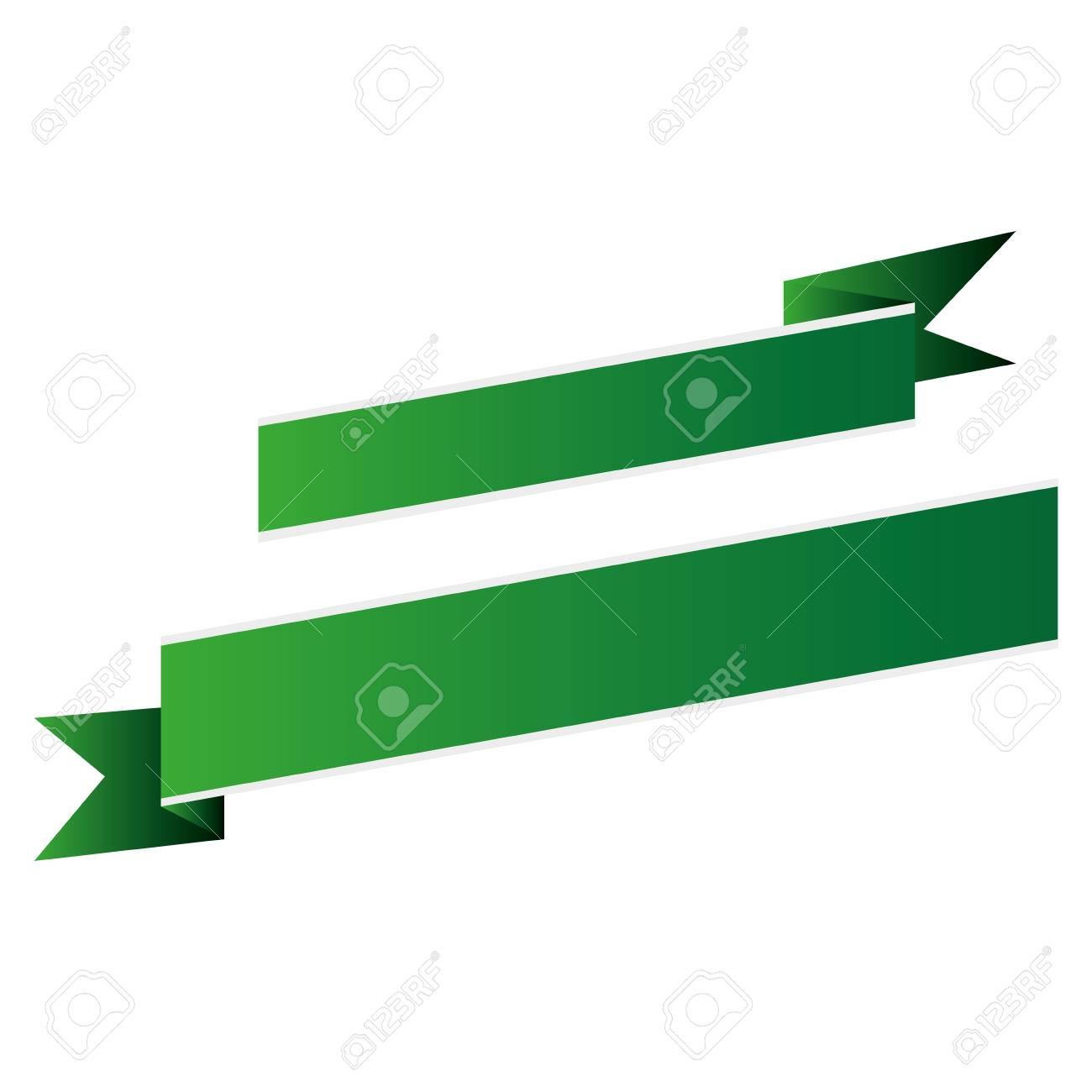 Flat Design Ribbon Banner Icons Vector Illustration