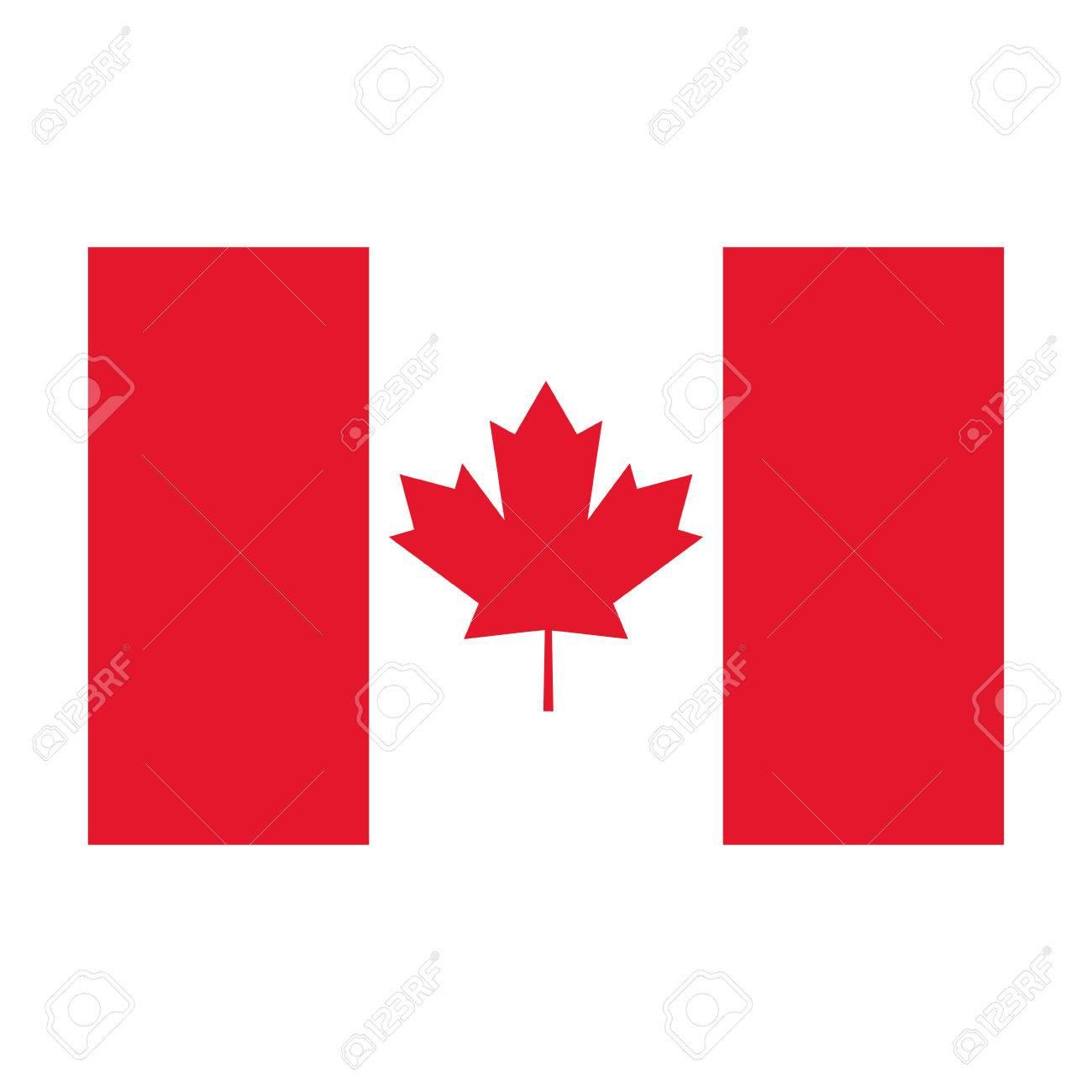 flat design canada flag icon illustration royalty free cliparts rh 123rf com canada flag vector download canada flag vector ai