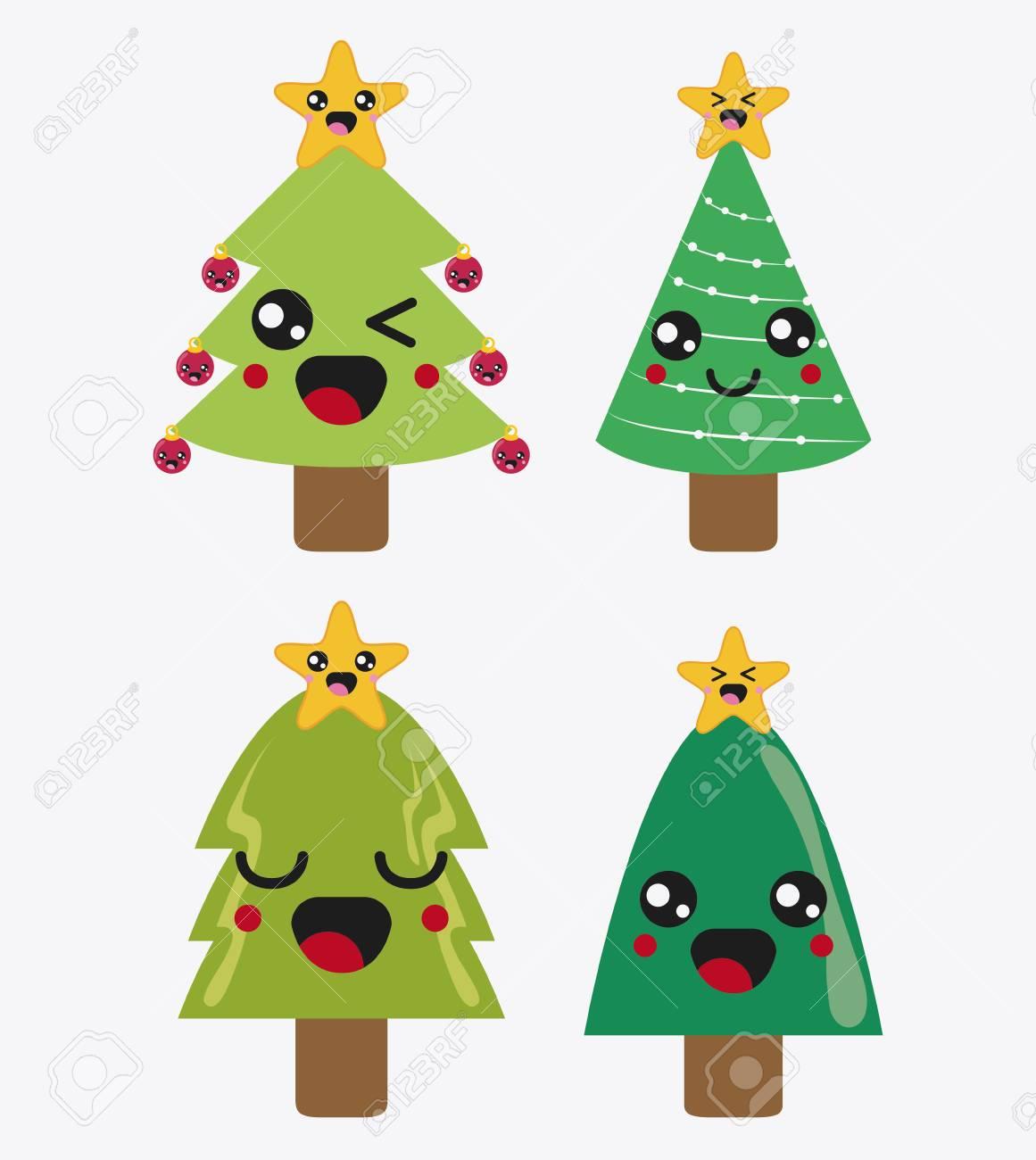 Feliz Navidad Concepto Representado Por El Icono De Dibujos Animados