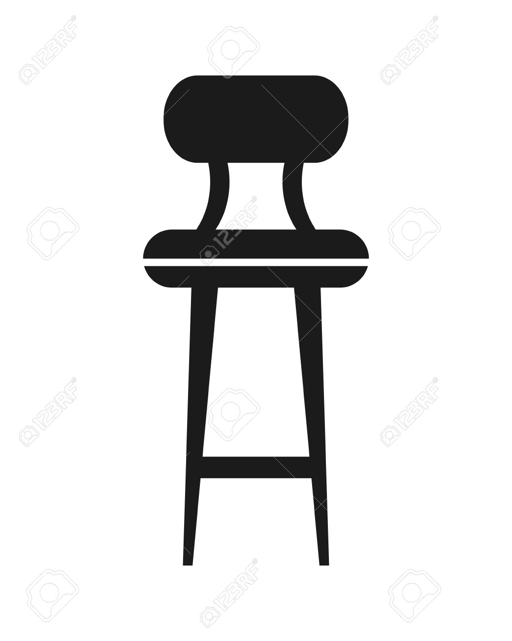 Flat Design Bar Chair Icon Vector Illustration Royalty Free Cliparts ...