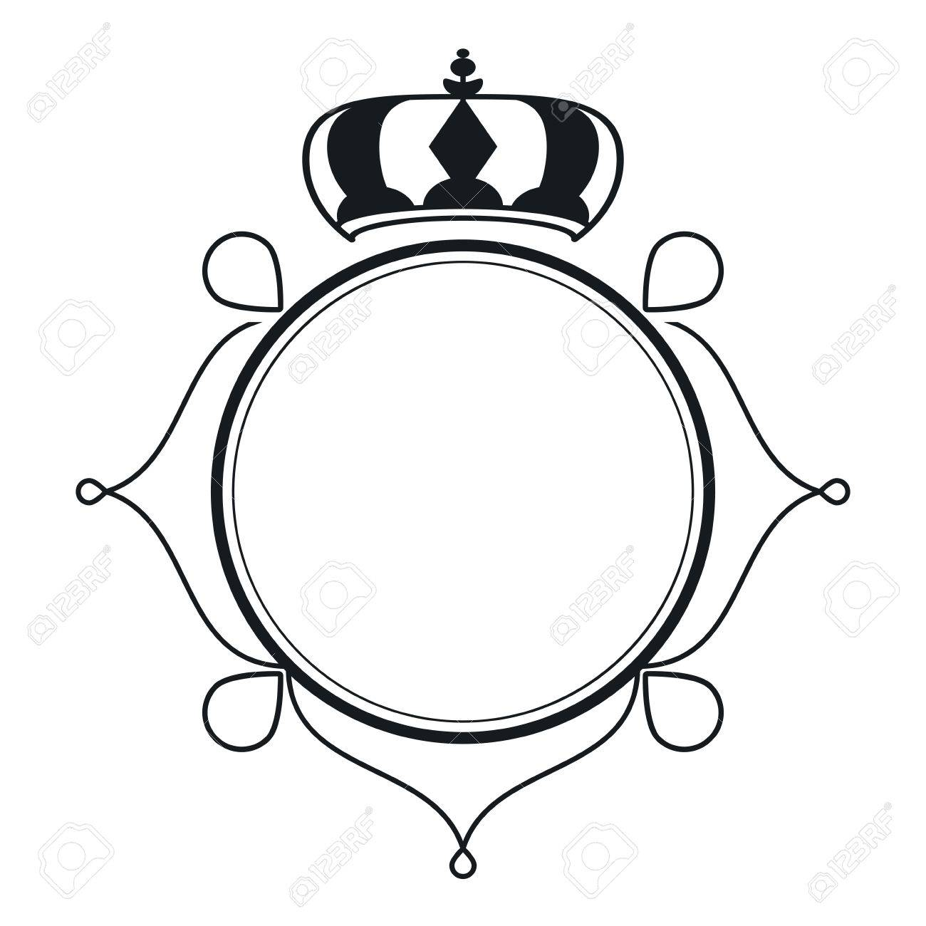 El Diseño Plano De La Vendimia Con El Marco Decorativo Icono De La ...