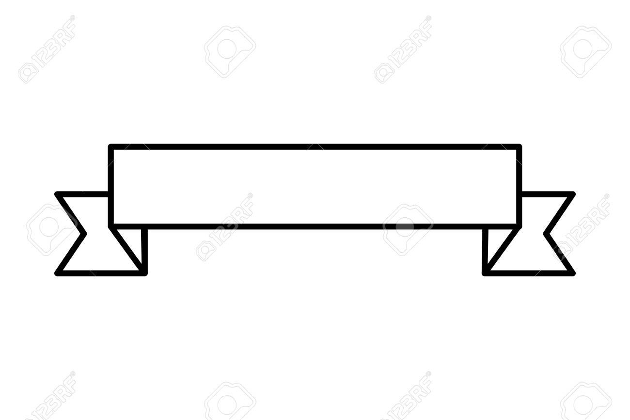Flat Design Ribbon Banner Icon Vector Illustration