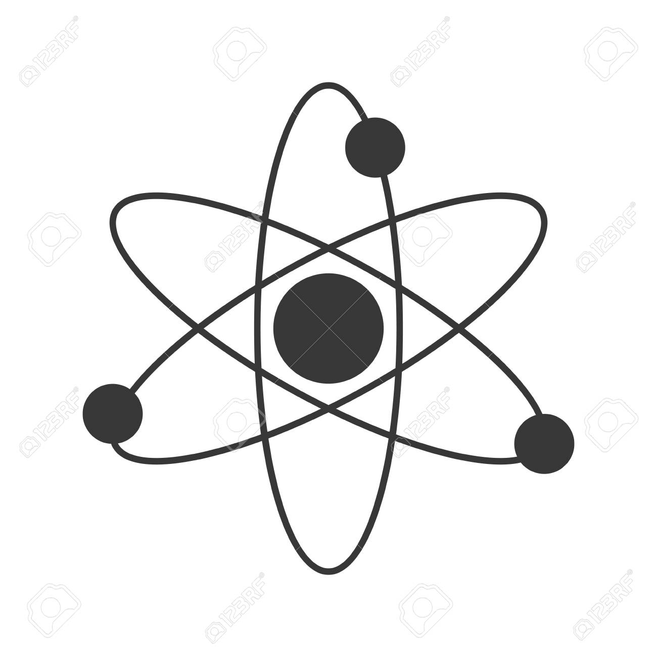 Flat design atom structure icon vector illustration royalty free flat design atom structure icon vector illustration stock vector 61800032 ccuart Images