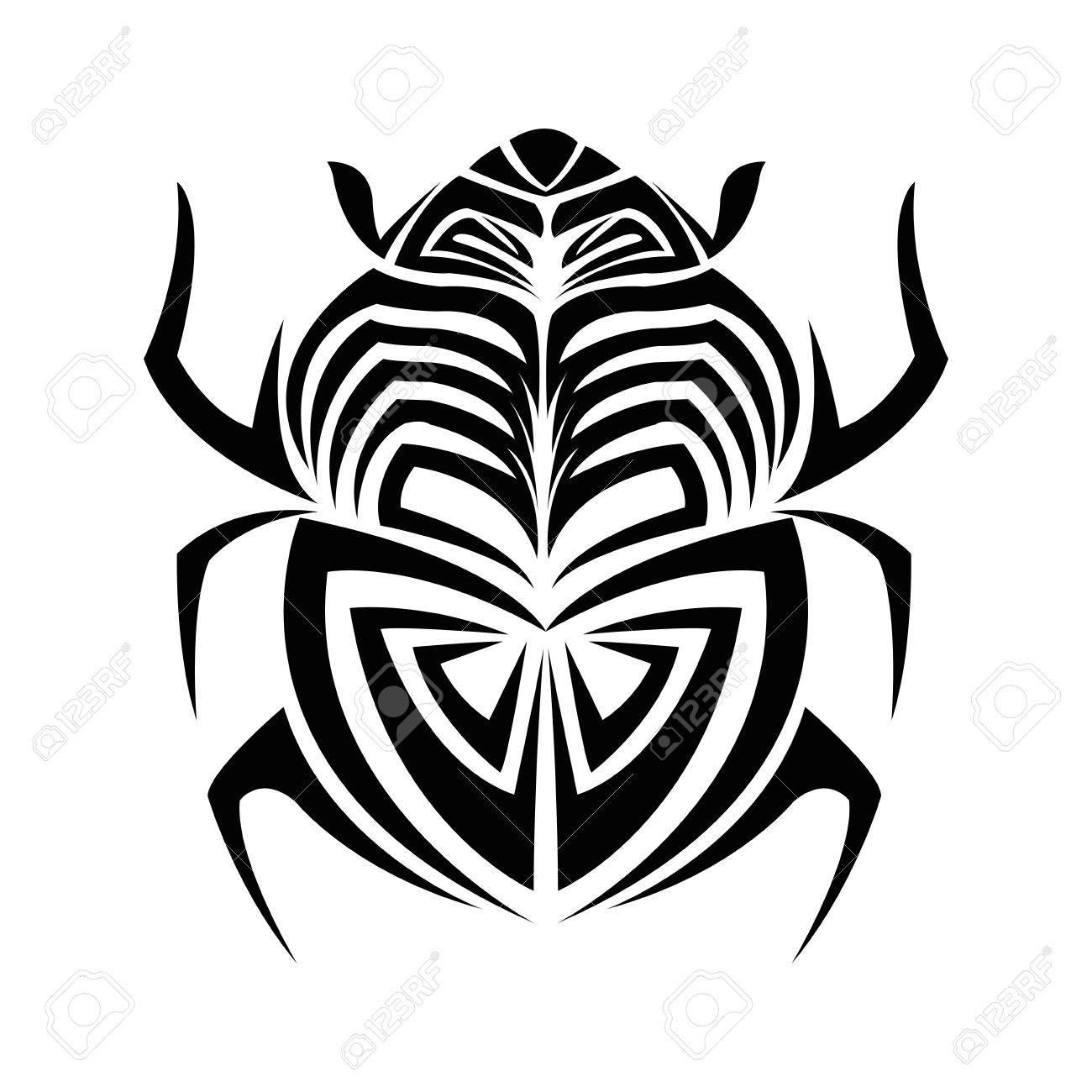 Insect Tattoo Dier Te Tekenen Abstract Icoon Vlakke En Geïsoleerde Design Vector Illustratie