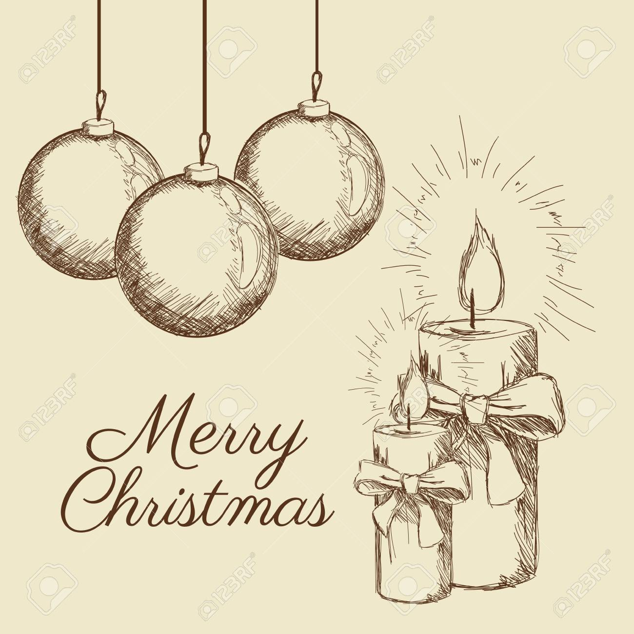 Christmas Celebration Images For Drawing.Candle Sphere Merry Christmas Decoration Celebration Icon Isolated