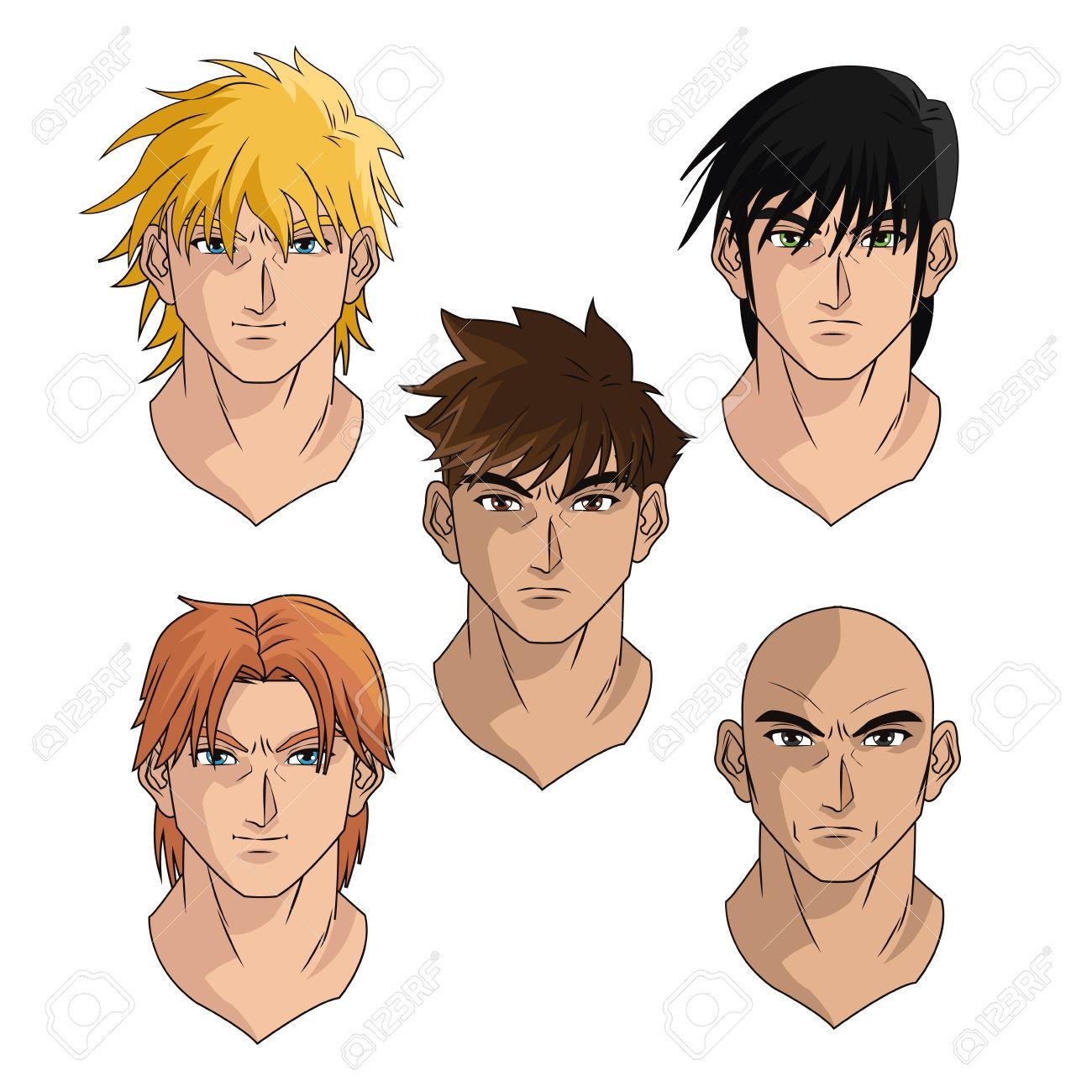 Hommes Homme Jeune Garcon Tetes D Anime Dessin Anime Manga Comique