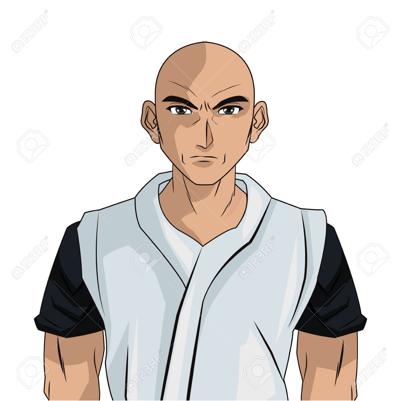 Homme Jeune Garcon Ne Anime Cheveux Manga Dessin Anime Comique Jeu