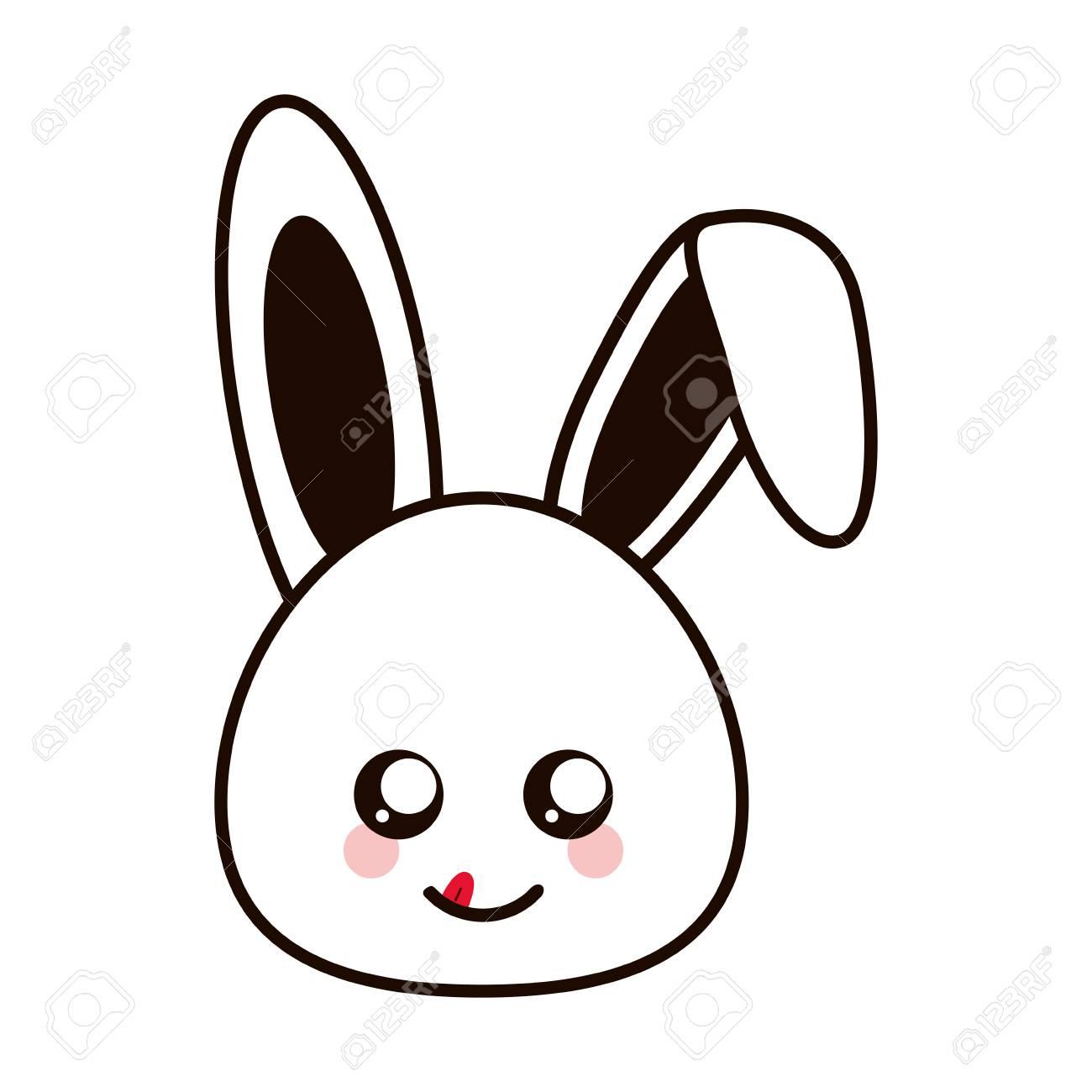 Design Plat Illustration Vectorielle De Lapin Mignon Dessin Anime Clip Art Libres De Droits Vecteurs Et Illustration Image 61748495