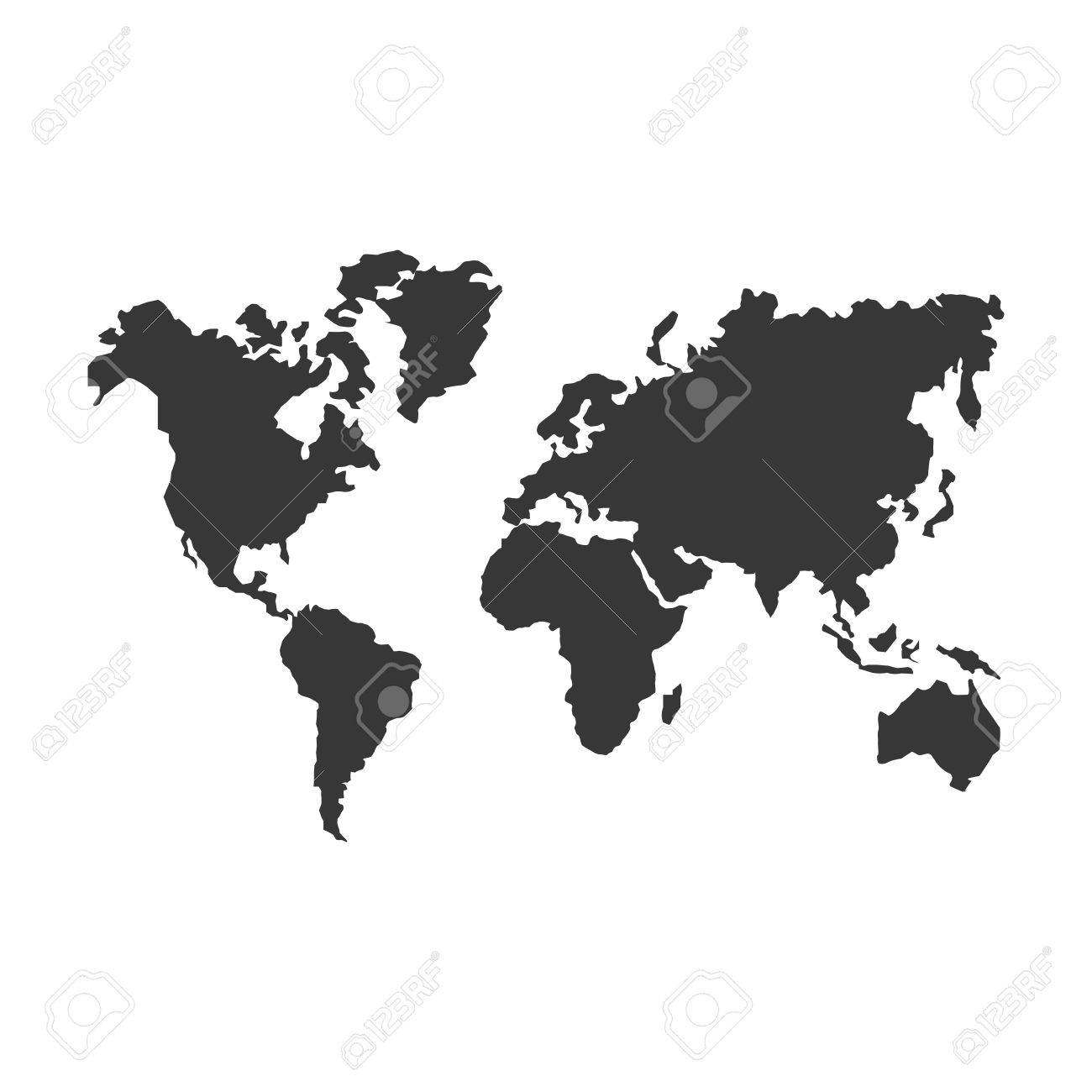 Planet earth world map cartography icon flat and isolated design planet earth world map cartography icon flat and isolated design vector illustration stock vector gumiabroncs Images