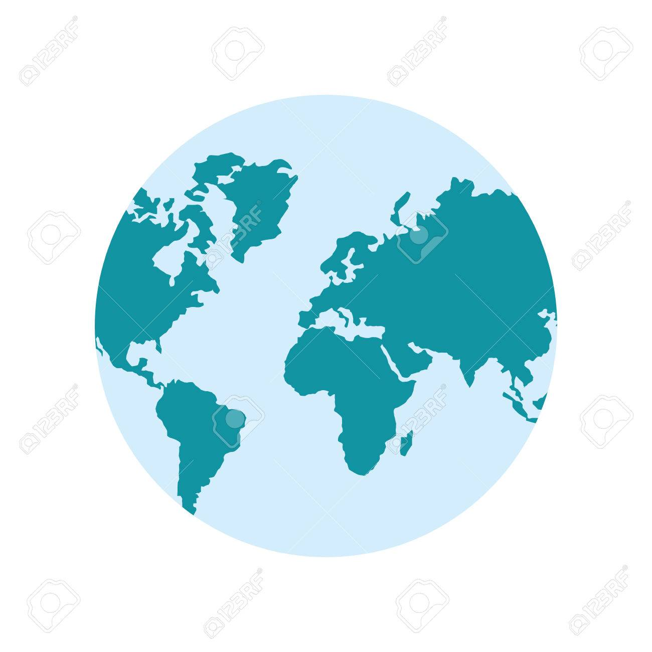 Planet earth world map cartography icon flat and isolated design planet earth world map cartography icon flat and isolated design vector illustration stock vector gumiabroncs Image collections