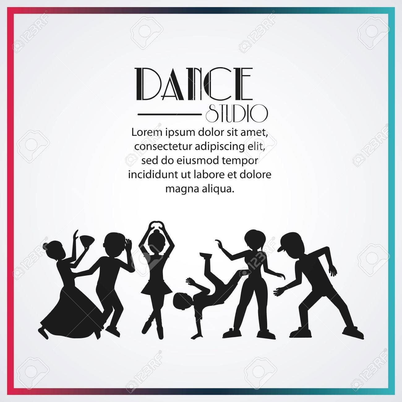 Girls Boys Cartoons Avatar Dancer Dance Studio Academy Advertising ...