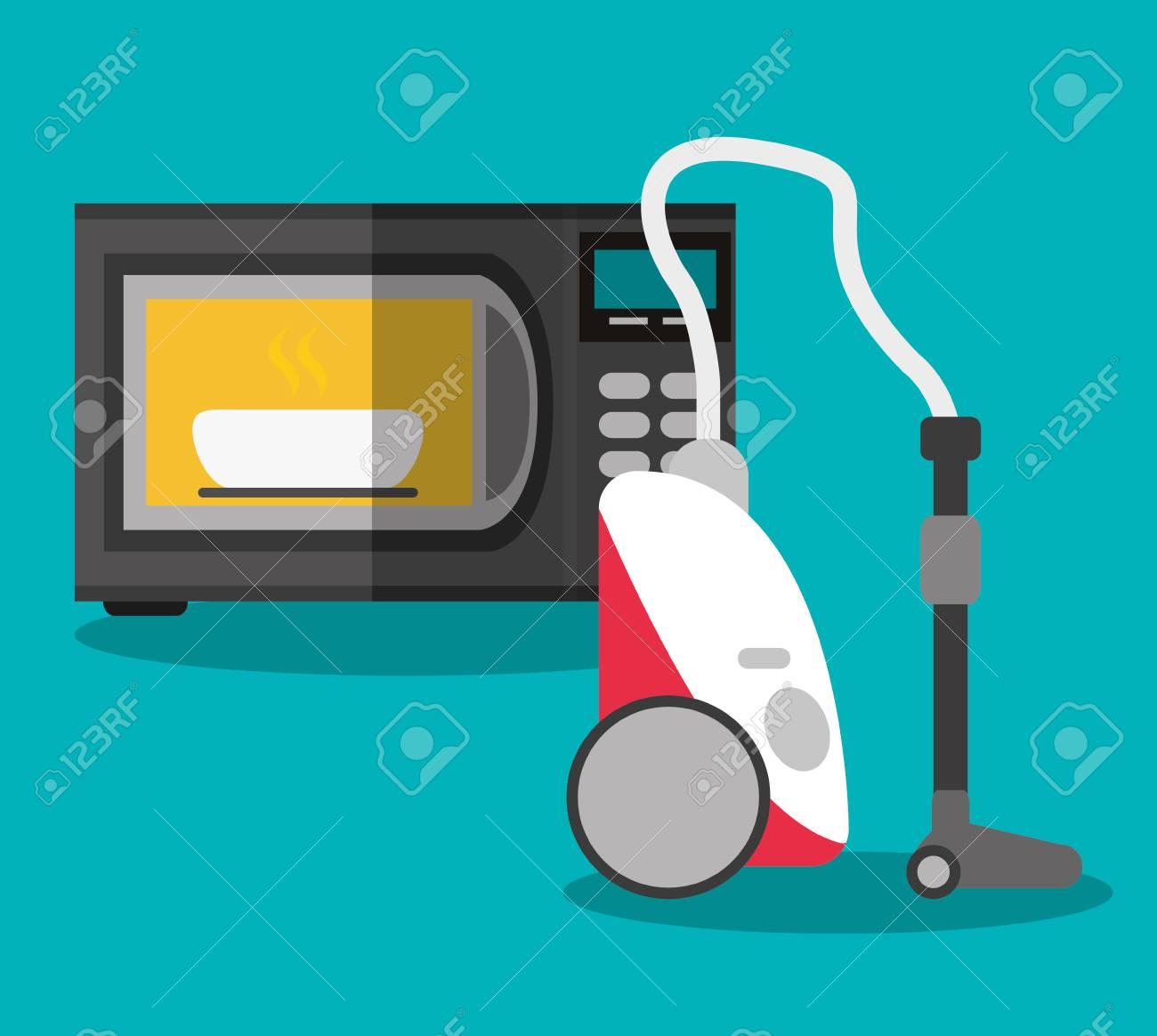 Mikrowelle Und Vakuum-Symbol. Elektronische Geräte Und Zubehör Für ...