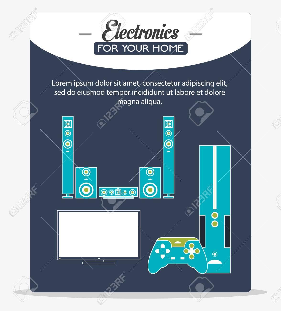 Tv Videospiel- Und Lautsprecher-Symbol. Elektronische Geräte Und ...