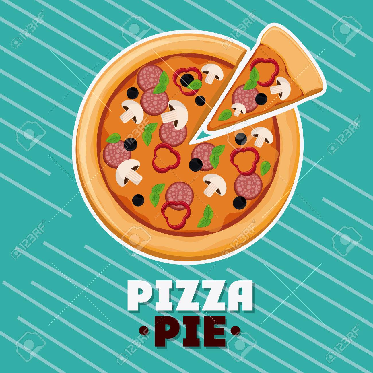 pizza pie icon. fast food menu american and restaurant theme