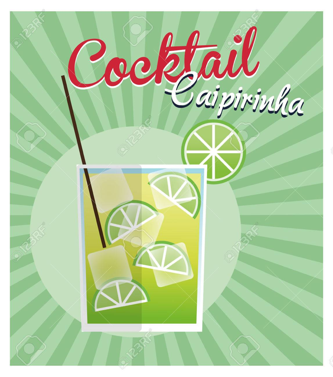 Caipirinha Cocktail-Symbol. Sommer-Party Getränke Und Getränke Thema ...