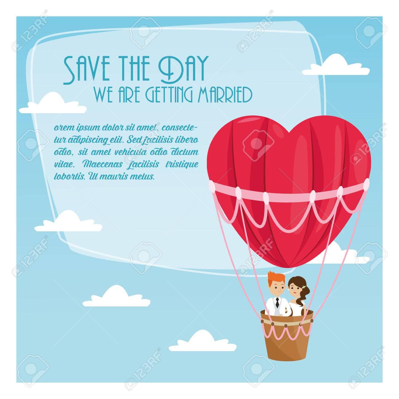 Hot Air Balloon Wedding Invitations Choice Image - Party ...