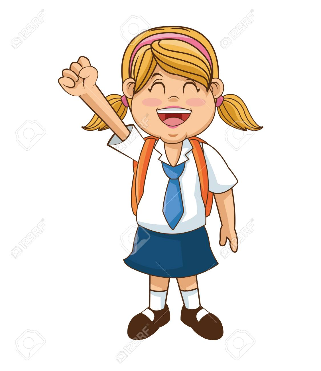 Girl Cartoon Student Back To School Education And Childhood Royalty Free Cliparts Vectors And Stock Illustration Image 63284305