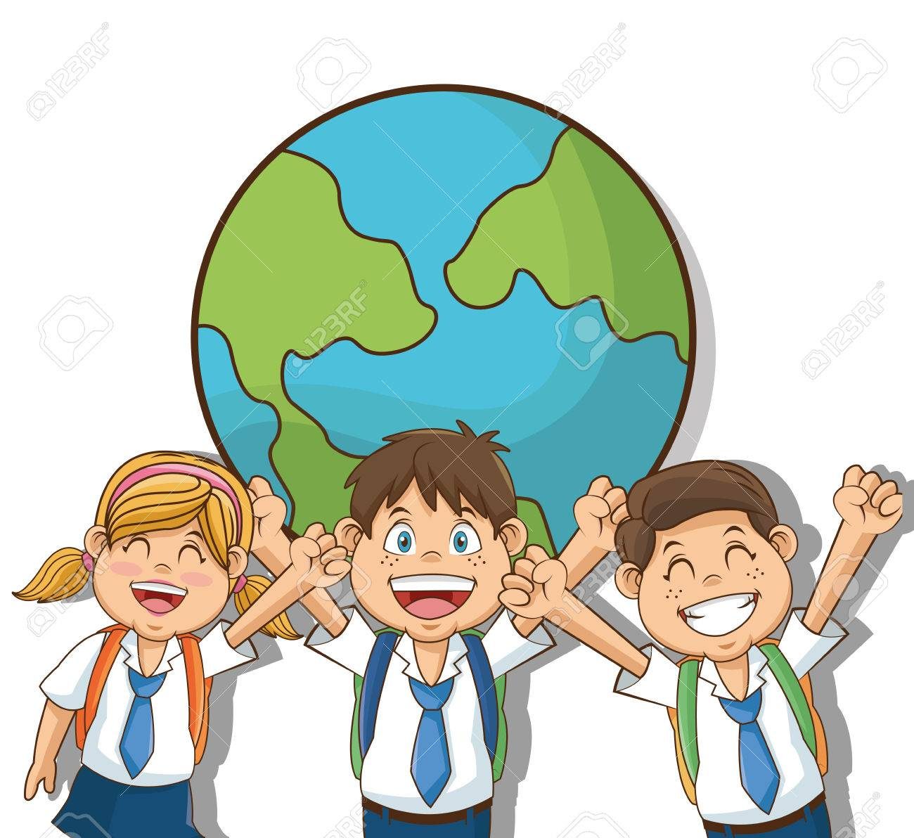 Boys And Girl Cartoons Students Back To School Education And Royalty Free Cliparts Vectors And Stock Illustration Image 63236557