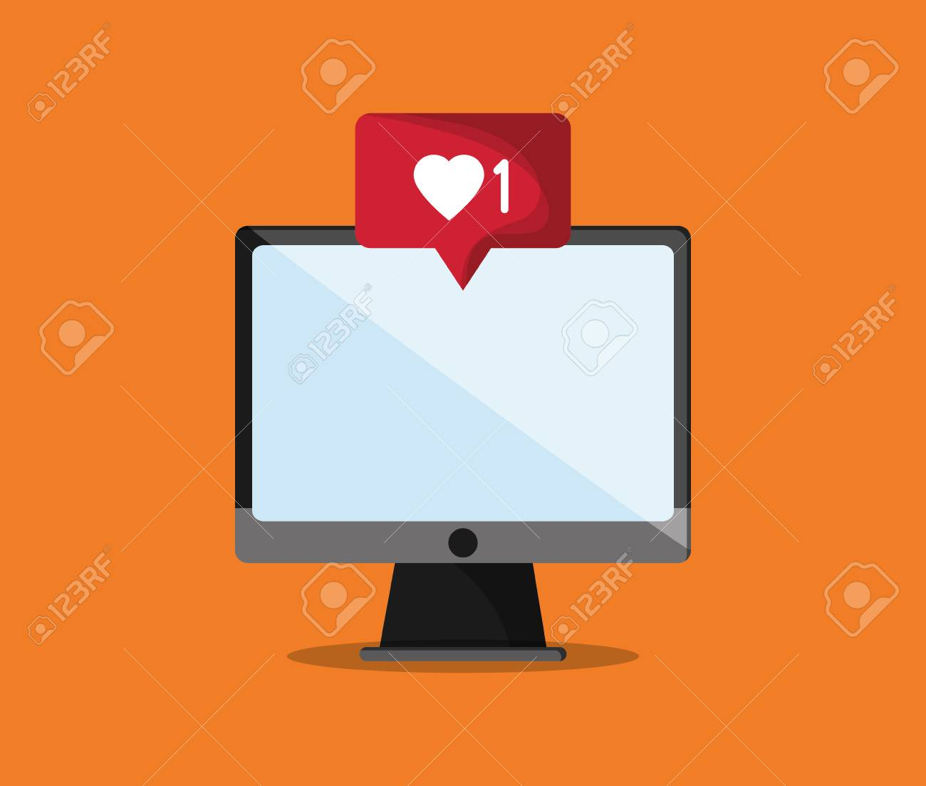 notification icon in communication related image vector illustration design - 64669077