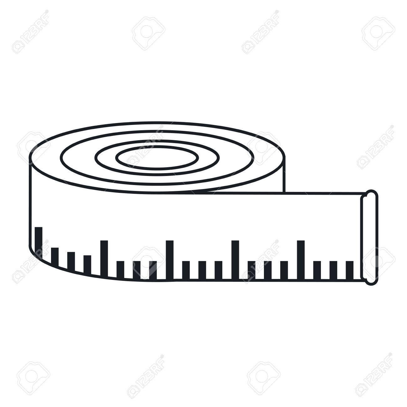 Mètre Ruban Icône Outil De Mesure Et Le Thème De L Instrument Conception Isolée Vector Illustration Clip Art Libres De Droits Vecteurs Et Illustration Image 65134944