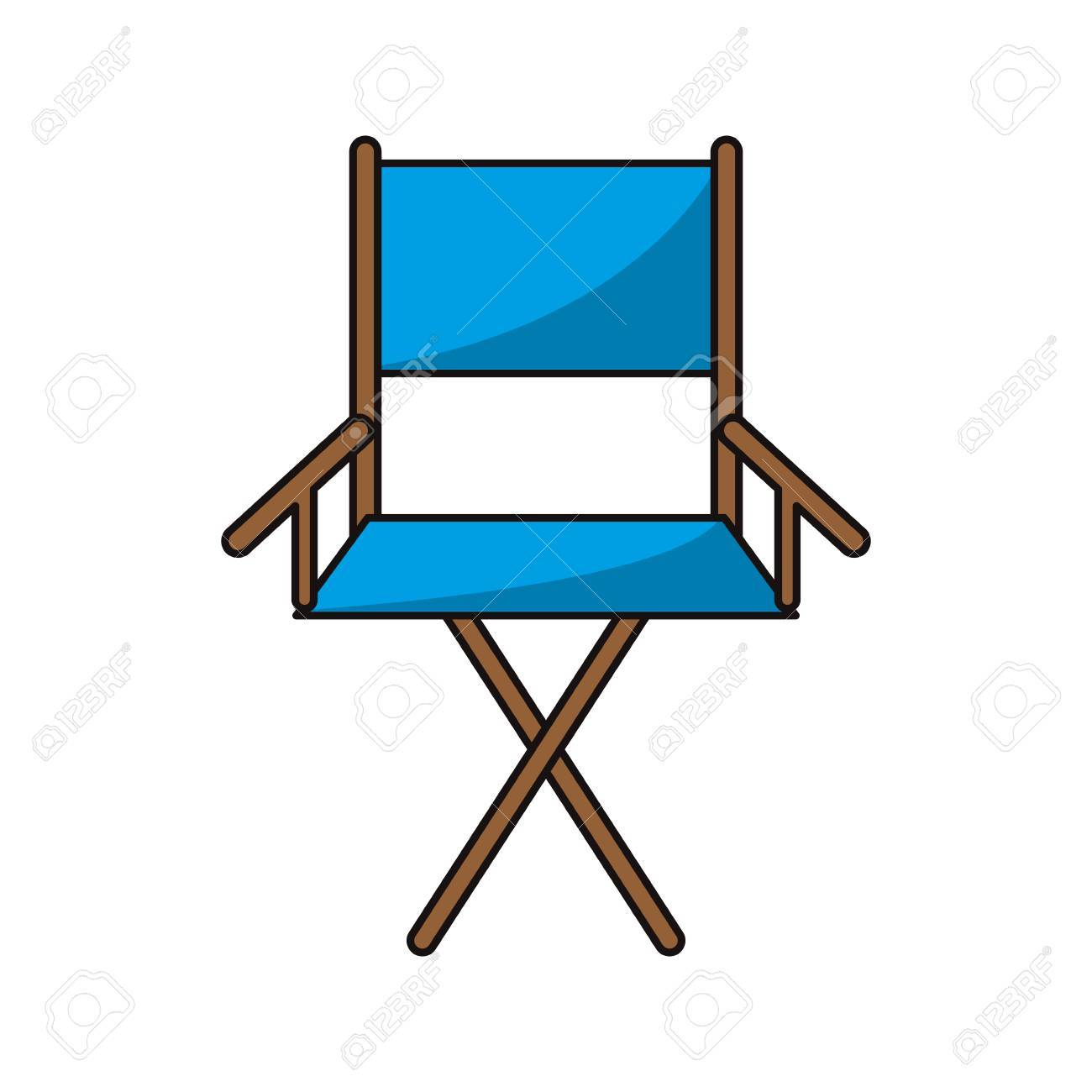 Cinema Directors Chair Icon. Movie Video Media And Entertainment ...