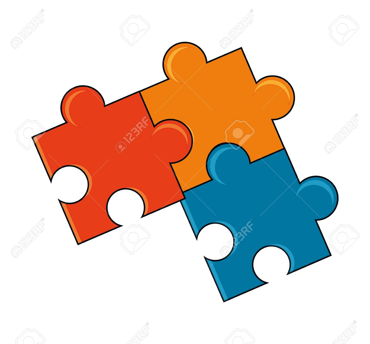 Puzzle Icon Piece Part Jigsaw Abstract Idea And Object Theme Colorful Isolated Design