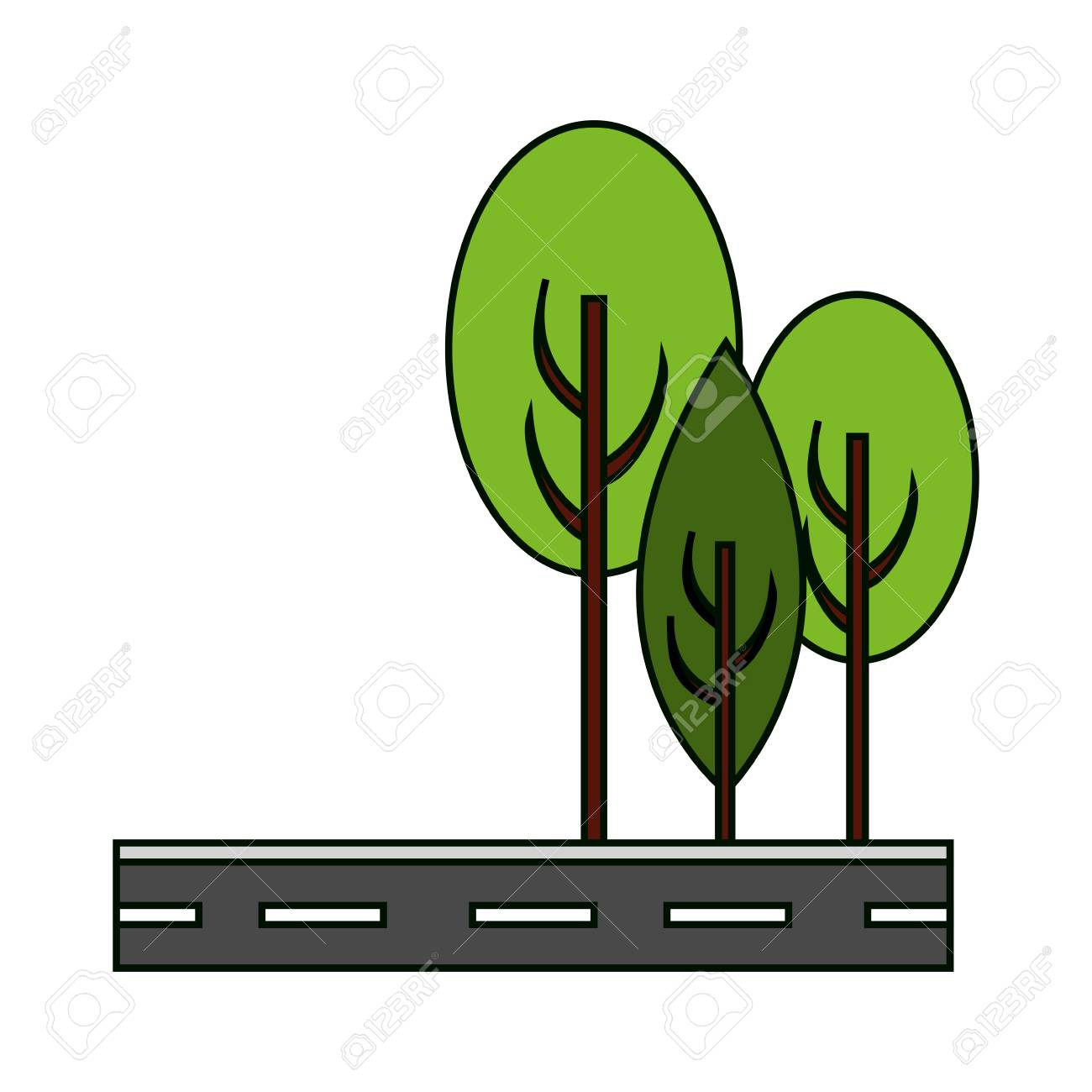 street and trees icon way city urban and architecture theme rh 123rf com