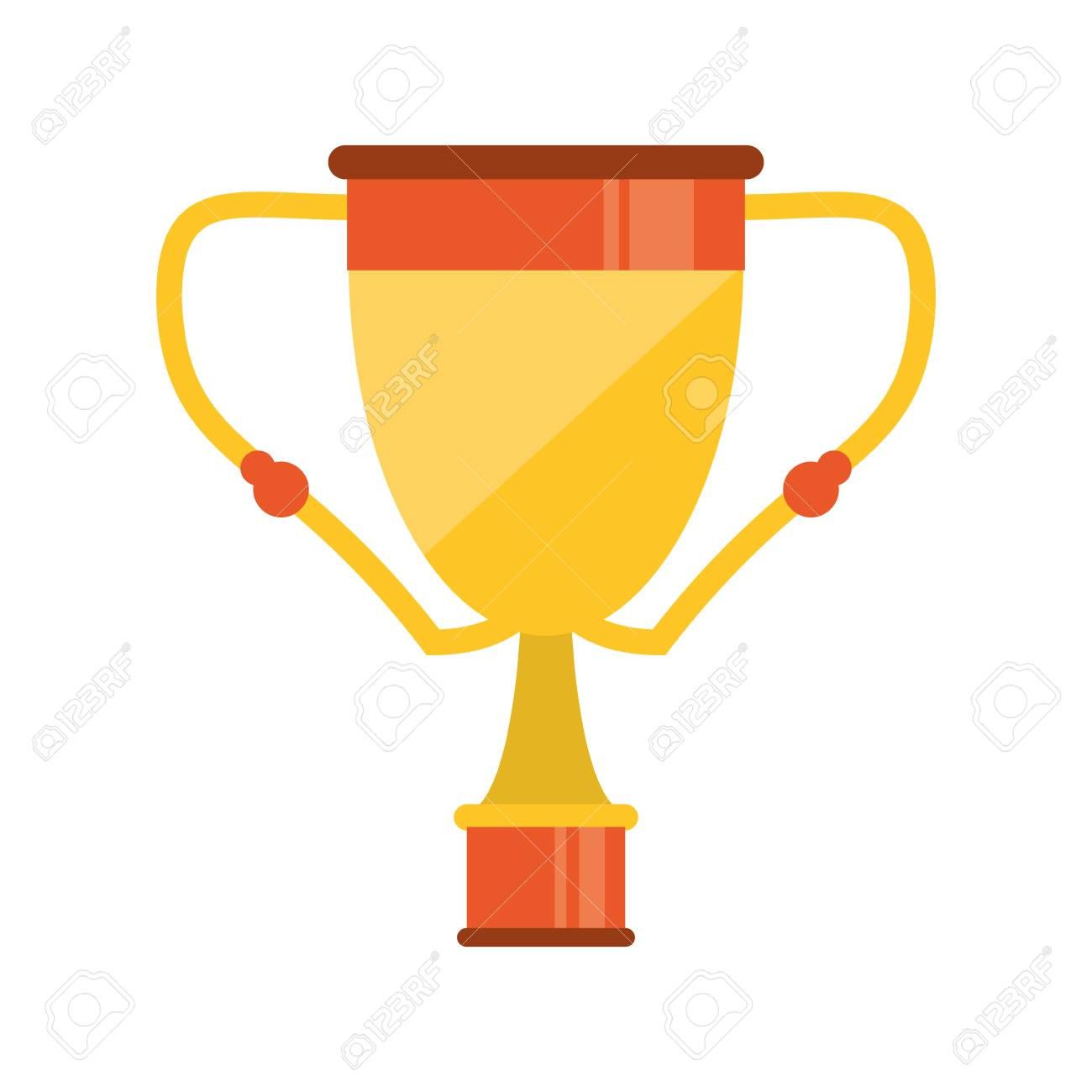 Trophy cup icon  Winner competition success price and award theme