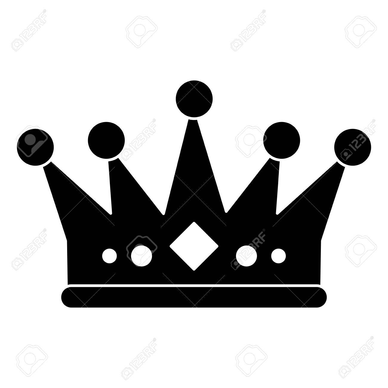 Icono De La Corona De Realeza Rey Reina Joyería De Lujo Y El Tema