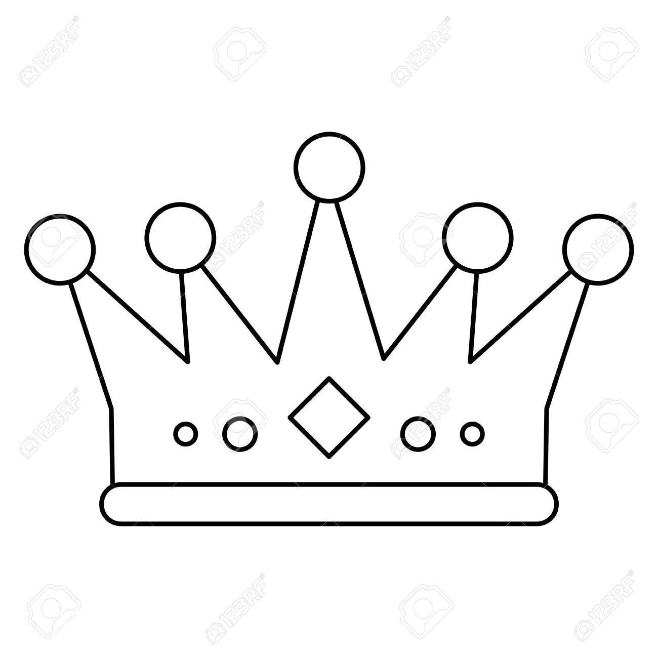 Imagen De Icono De La Corona. Rey De Joyería De Lujo Reina Y El Tema ...