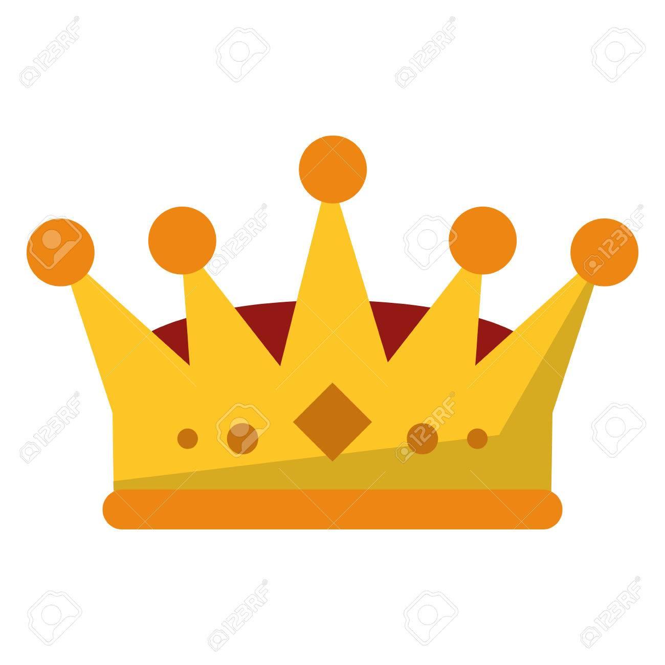 Imagen De Icono De La Corona Rey De Joyería De Lujo Reina Y El Tema