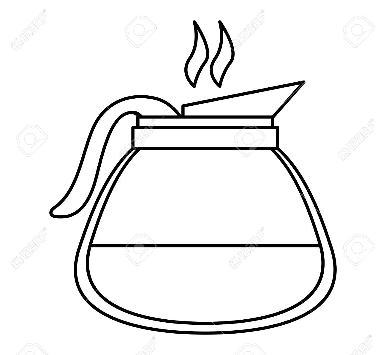 Coffee Pot Icon. Kitchen Supply Domestic And Household Theme ...
