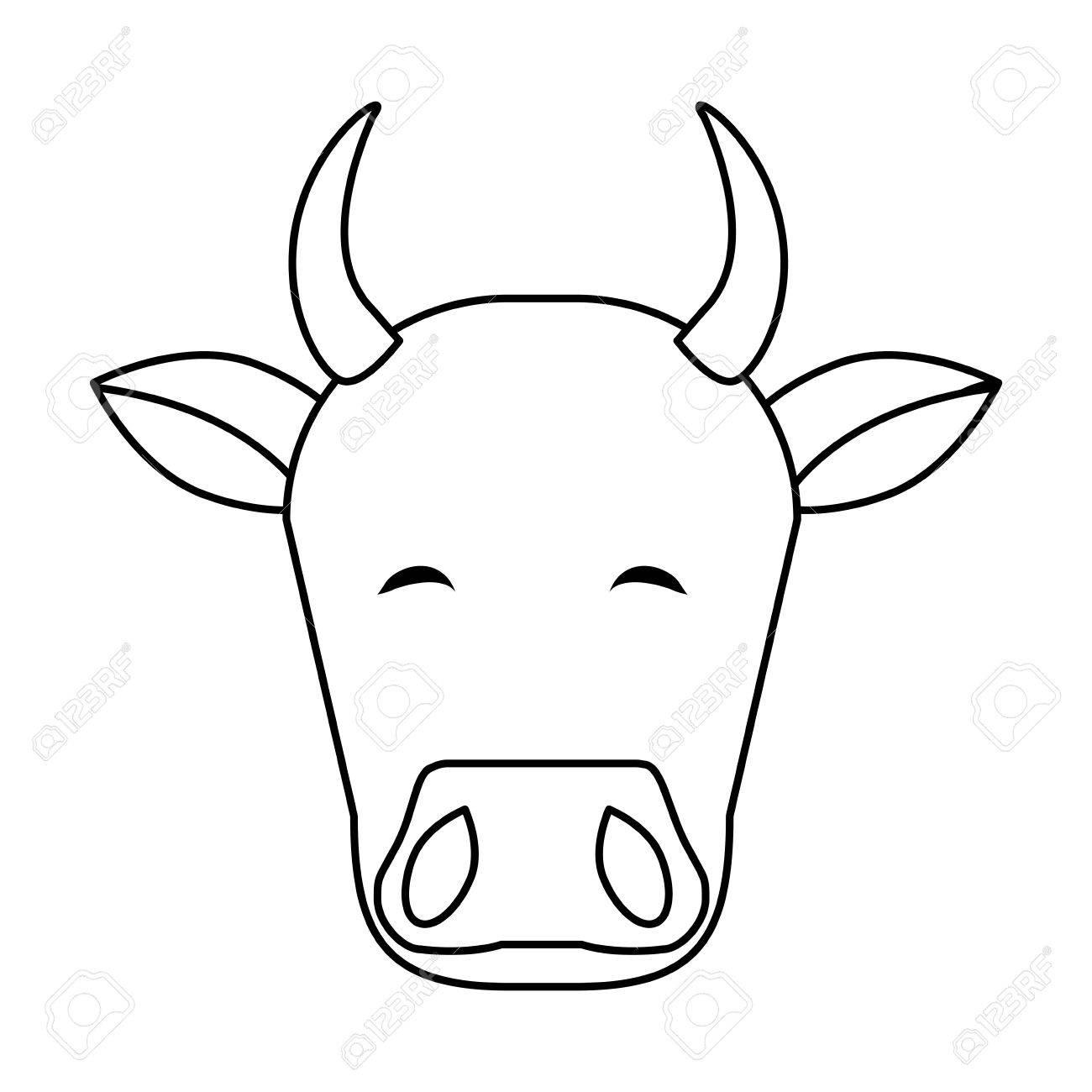 Icono De Cabeza De Vaca Ilustración Indio Vector De Diseño Gráfico