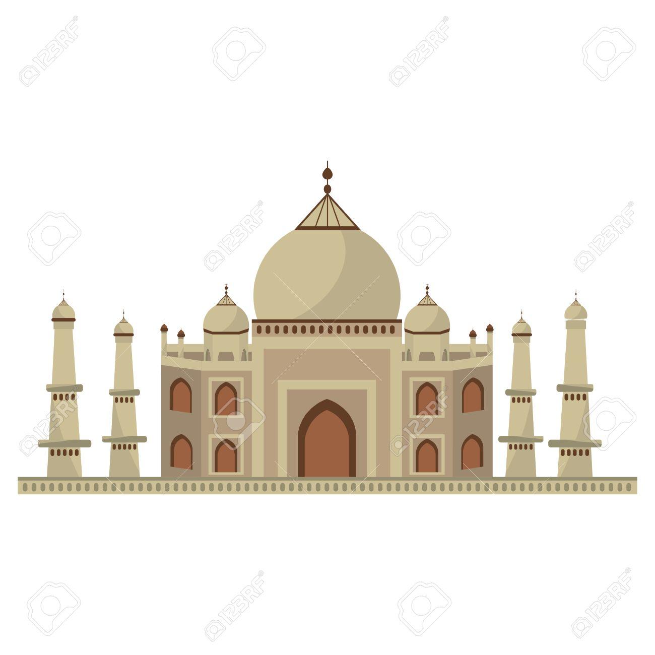 Taj Mahal Architecture Icon Vector Illustration Graphic Design Stock Vector    69562502