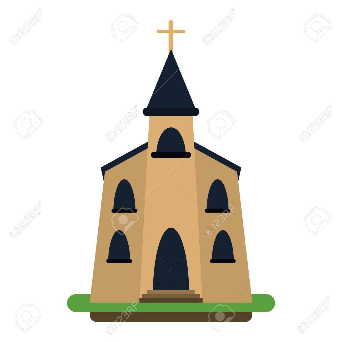 教会の宗教キリスト教ベクトル イラスト Eps 10 の建物のイラスト素材