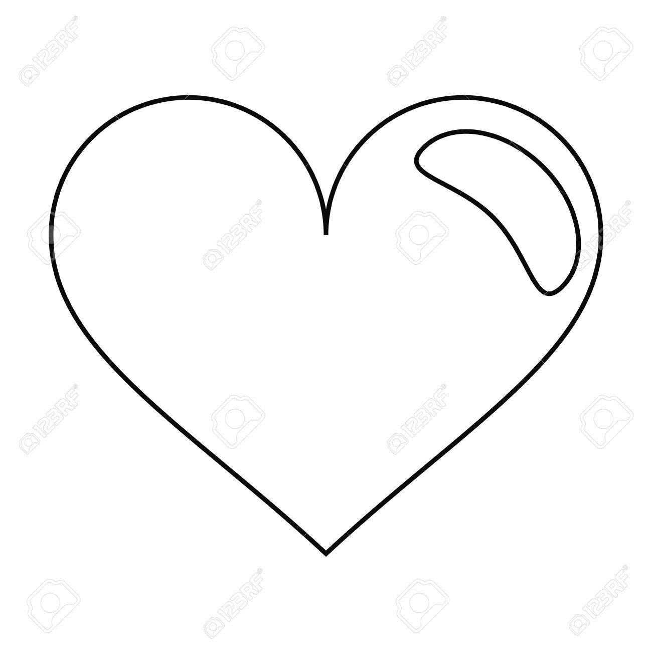 heart love romantic symbol outline vector illustration eps 10 rh 123rf com heart outline vector file red heart vector outline