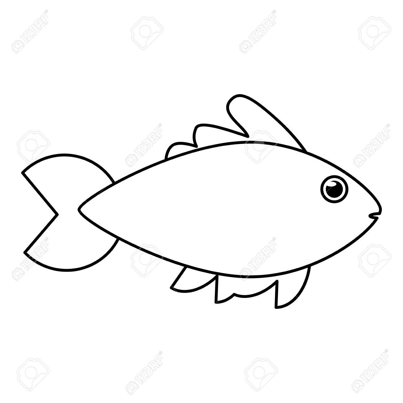 fish animal cartoon icon sea life ecosystem fauna and ocean rh 123rf com ocean life clipart black and white