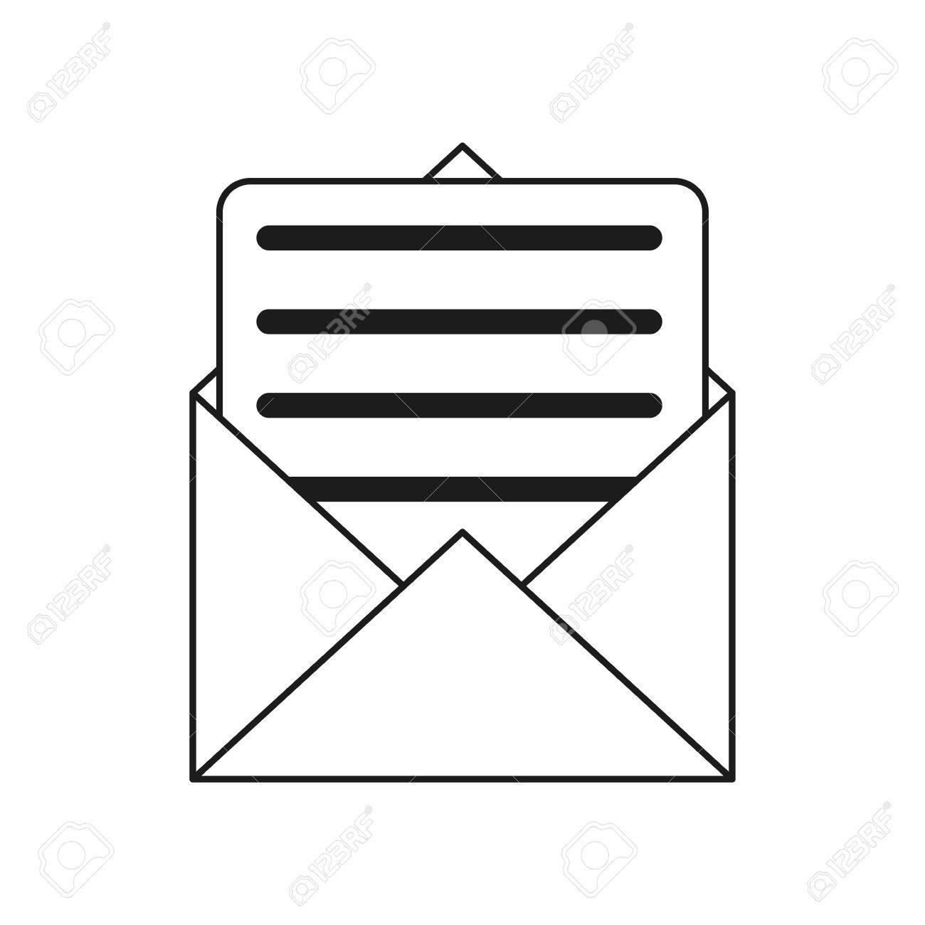 Envelope Paper Letter Email Outline Vector Illustration Eps 10 ...