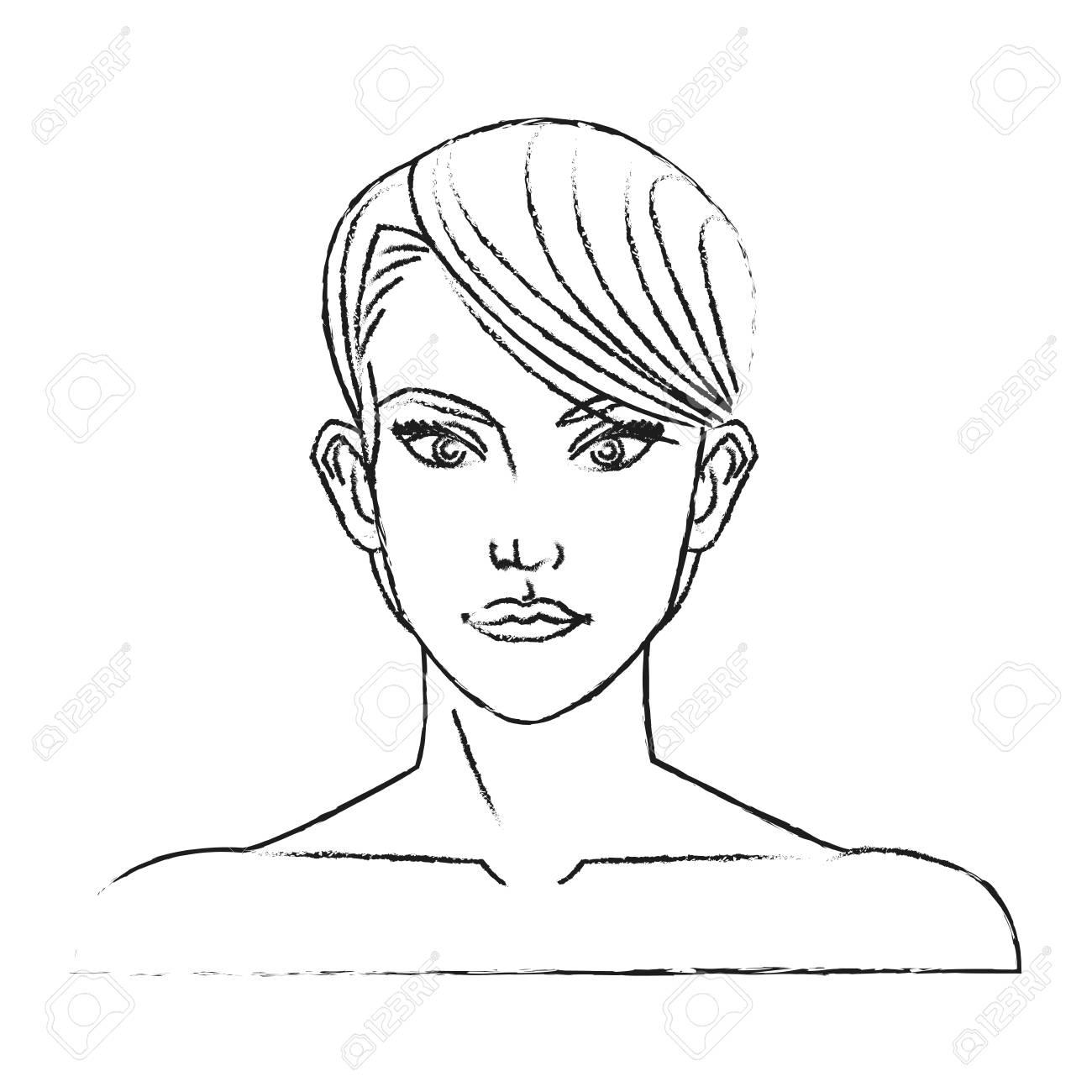 Cone De Desenho Animado De Mulher Menina Personagem Feminina Pessoa E Tema Humano Design Isolado Ilustração Do Vetor