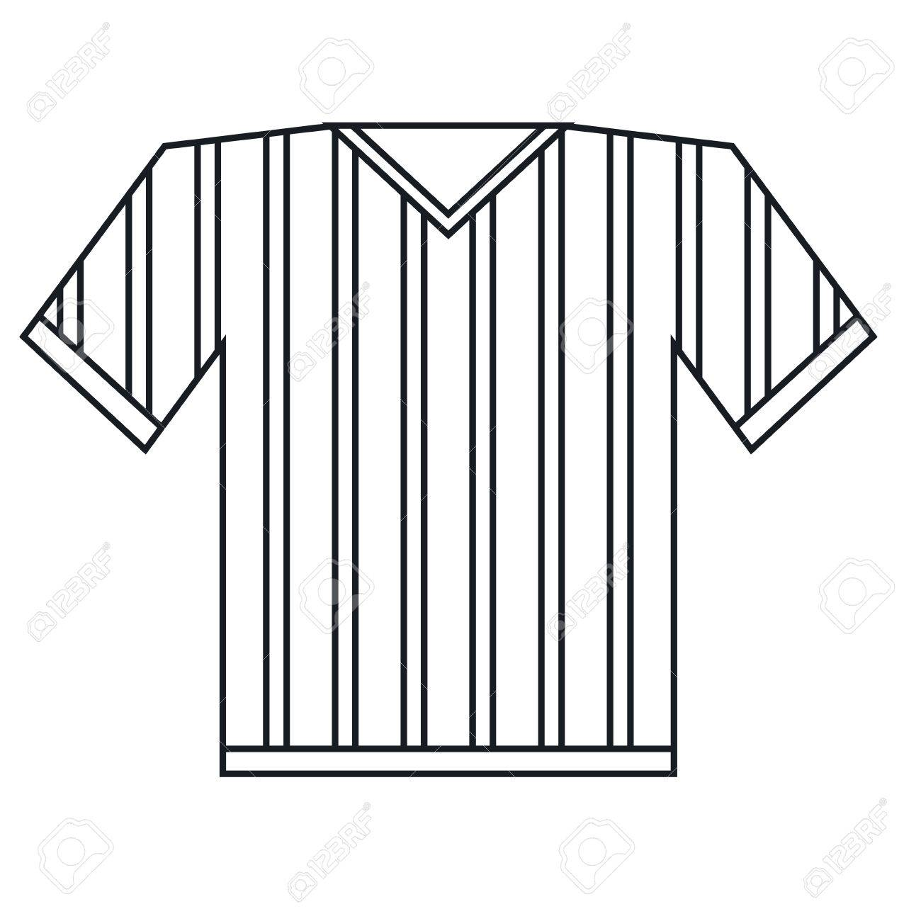 jersey referee american football outline vector illustration eps 10 stock vector 67456788 - Football Outline