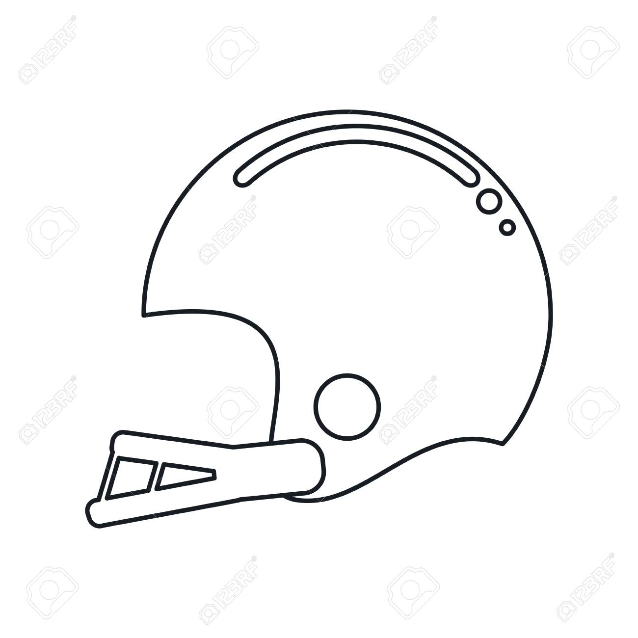 american football helmet drawing vast